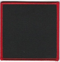 Blank Patch 3.5 x 3.5 Black with Red Border
