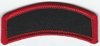 Blank Patch Rocker 2.5x1 Black Background with Red Border Heat Seal