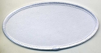 Blank Patch OVAL 4x2 White Background with White Border Heat Seal