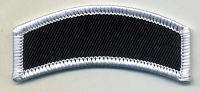 Blank Patch Rocker 2.5x1 Black Background with White Border Heat Seal