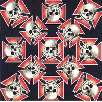 Iron Cross with Skull & Crossbone Bandana 22
