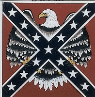 Rebel Flag with Eagle Bandana
