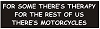FOR SOME THERE'S THERAPY, FOR THE REST OF US THERE'S MOTORCYCLES Helmet Sticker