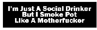 I'm Just a Social Drinker But I Smoke Pot Like a Motherfucker Helmet Sticker