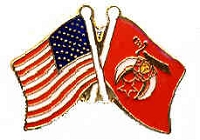 SHRINER AND AMERICAN FLAG HAT / VEST PIN