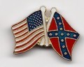 REBEL AND AMERICAN FLAGS CROSSED VEST / HAT PIN