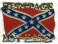 HERITAGE NOT HATE HAT / VEST PIN