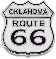 Oklahoma Route 66 Vest / Hat pin