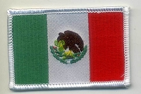 Mexico Country Flag 3 x 2 with heat seal