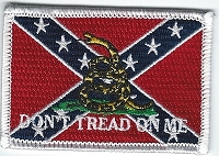 Confederate Gadsen flag patch 3