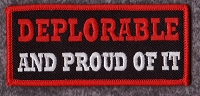 Deplorable and Proud of it patch 3.5x1.5 with heat seal