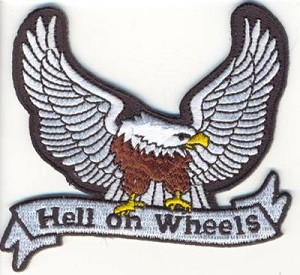 Hell On Wheels with Eagle Patch 3""
