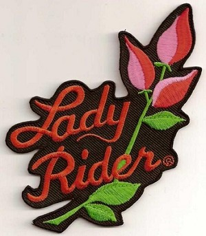 Lady Rider Large Patch 8x8""