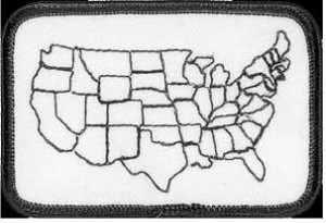 US Map Patch 2 x 3