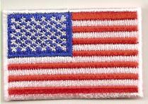 US Flag Patch Small with White Border 2x1.25