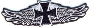 Wing with Iron Cross Patch 4x1.3