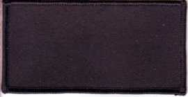 Blank Patch 4x2 Black Background Black Border Heat Seal