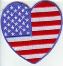 Heart America Patch 3""