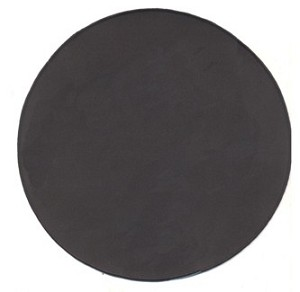 "Blank Patch 12"" Round Black Background Black Border with Heat Seal"