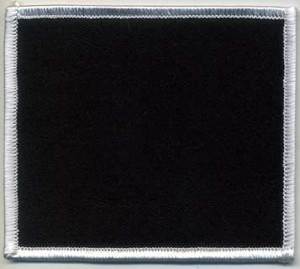 Blank Patch 3x3.5 Black Background White Border