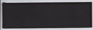 Blank Patch 7 x 2 Black Background Black Border With Heat Seal