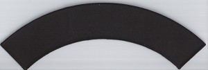 "Blank Patch ROCKER 11.45x2"" Black Background Black Border with Heat Seal"