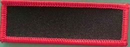 Blank Patch 3x1 Black Background Red Border with Heat Seal