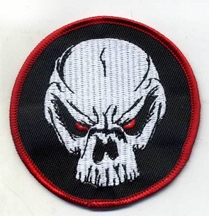 "Alien Skull patch, 3"", Heat Seal"
