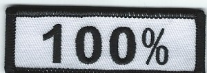 "100% patch, Size: 3"" x 1"", Heat Seal, Border"