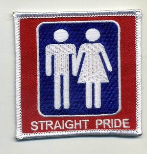 "STRAIGHT PRIDE  PATCH 3""X3"" WITH HEAT SEAL"