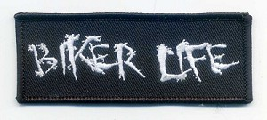 "BIKER LIFE PATCH 4"" x 1.5"" with heat seal"