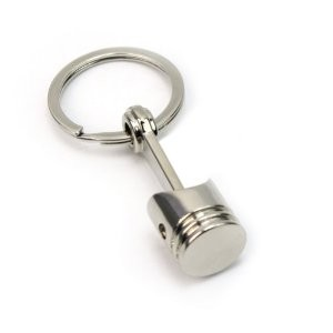 Engine Piston Key Ring Chrome Color