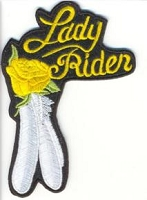 Lady Rider Rose and Feather Yellow Patch 4x3