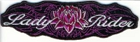 Lady Rider Center Rose Patch 4.5xx1.5
