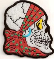 Skull Facing Sideways With Bandana Patch 3