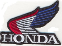 HONDA WING - Red White Blue Patch 3.5 x 2.6