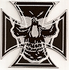 Iron Cross With Skull Patch 6 x 6