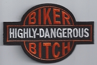 Highly Dangerous Biker Bitch Patch 3.5