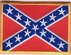 Confederate Battle Flag Patch 2x3