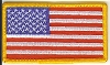 US Flag Patch with Gold Border 3x2