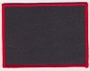 Blank Patch 4x3 Black Background Red Border with Heat Seal