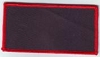 Blank Patch 4x2 Black Background Red Border With Heat Seal
