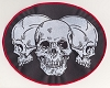 Triple Skulls Large Patch 8.5x6.72