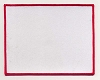 Blank Patch 6x4.75 White Background Red Border With Heat Seal