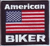 American Biker Flag Patch 3.5x3.2