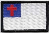 Christian Flag Patch With Black Border 3x2