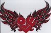 Love Heart With Wings - Red Patch 12 x 7.62