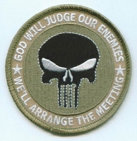 God Will Judge Our Enemies We'll Arrange The Meeting (Khaki) Patch 3