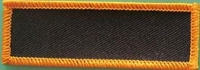 Blank Patch 3x1 Black Background Orange Border with Heat Seal