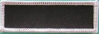 Blank Patch 3x1 Black Background White Border with Heat Seal Back